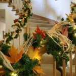 Staircase Decorations – Two Holidays In One