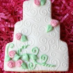 Embossed Fondant Wedding Cookies – Part 1