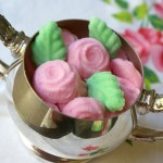 Molded Sugar Roses and Leaves