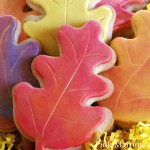 Decorated Fall Leaf Cookies! A Tutorial (with rolled fondant)