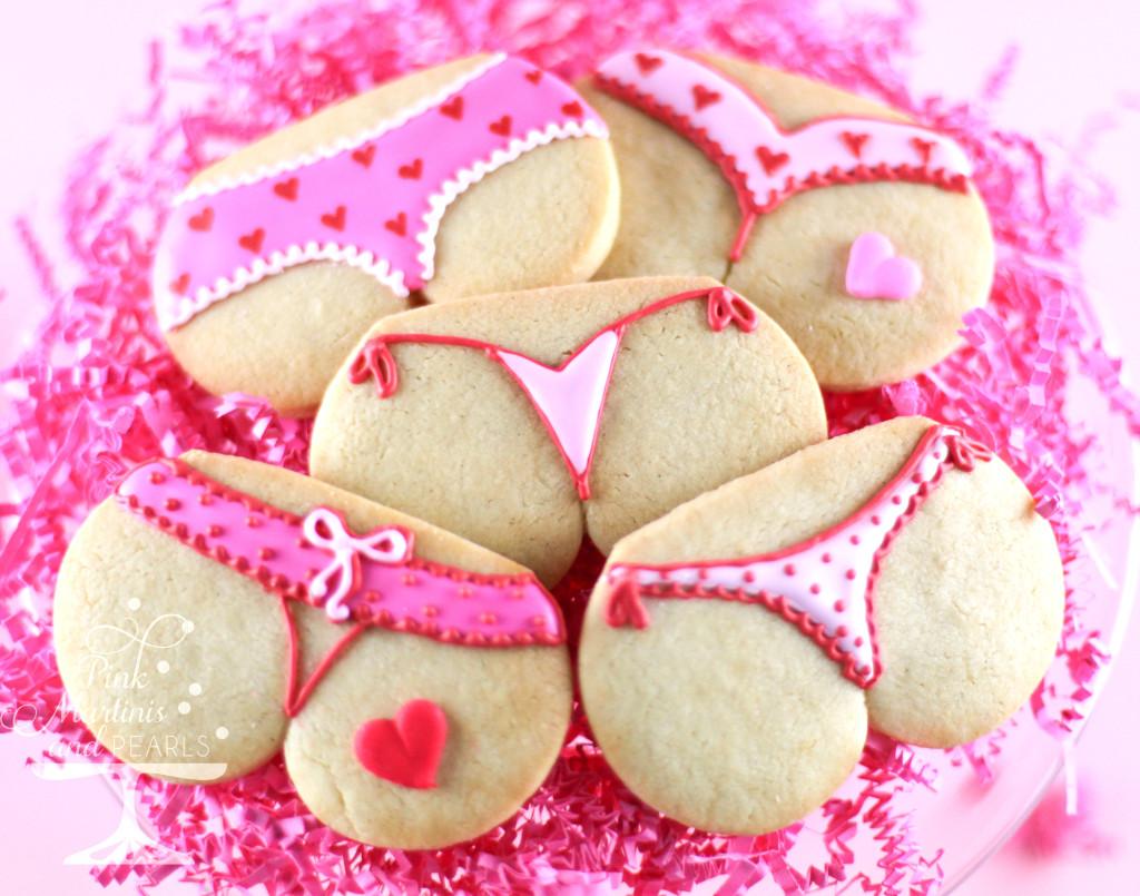 Valentine tushie cookies
