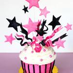 A Big, Beautiful Birthday Cupcake with Tushie Cookies!