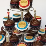 Olympic Gold Medal Cupcakes