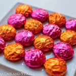 Pink and Orange Foil Wrapped Peppermint Patties