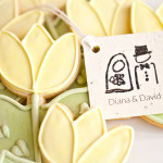 Bridal Shower Tulip Cookies with a Plantable Tag of Wild Flowers