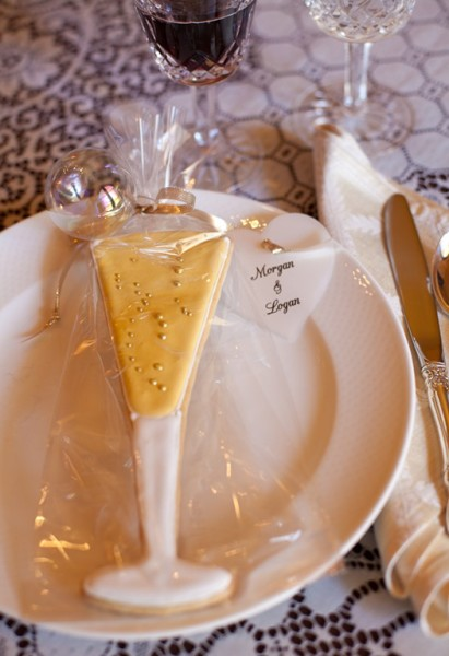 Decorated Champagne Glass Cookie Party Favors Diy