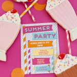 Tiny Prints Blog Today–Stately Straws Invitation Collaboration