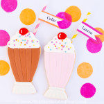 Decorated Milkshake Cookies