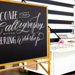 Calligraphy, Hand Lettering and Inspiration Boards at Sugar Paper Los Angeles