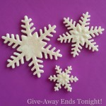 Snowflake Fondant Cutters Give-Away Ends Tonight