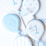 Baby Blue and White Balloon Cookies with a Washi Tape DIY –Part Deux