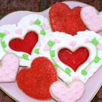 Valentine Cookies in Glassine Bags