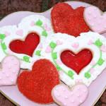 decorated valentines cookies
