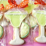 decorated margarita cookies