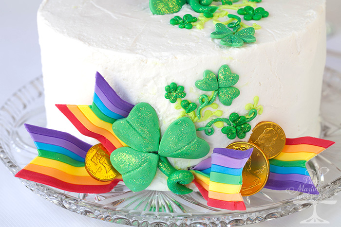 Cake Decorating St Patrick Day : St. Patrick s Day Cake with DIY Fondant Rainbow Ribbons