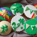 St. Patrick's Day Cupcakes with Fondant Decorations