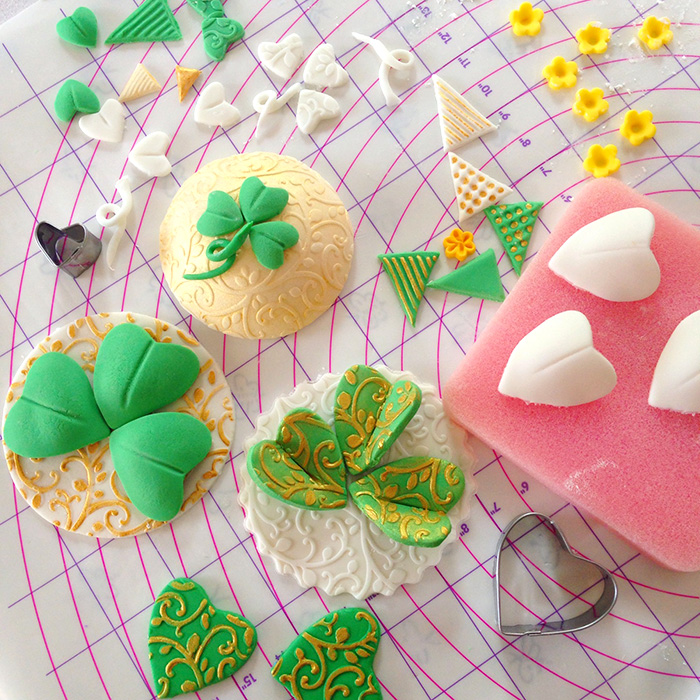 St. Patrick's Day Fondant Cake Decorations