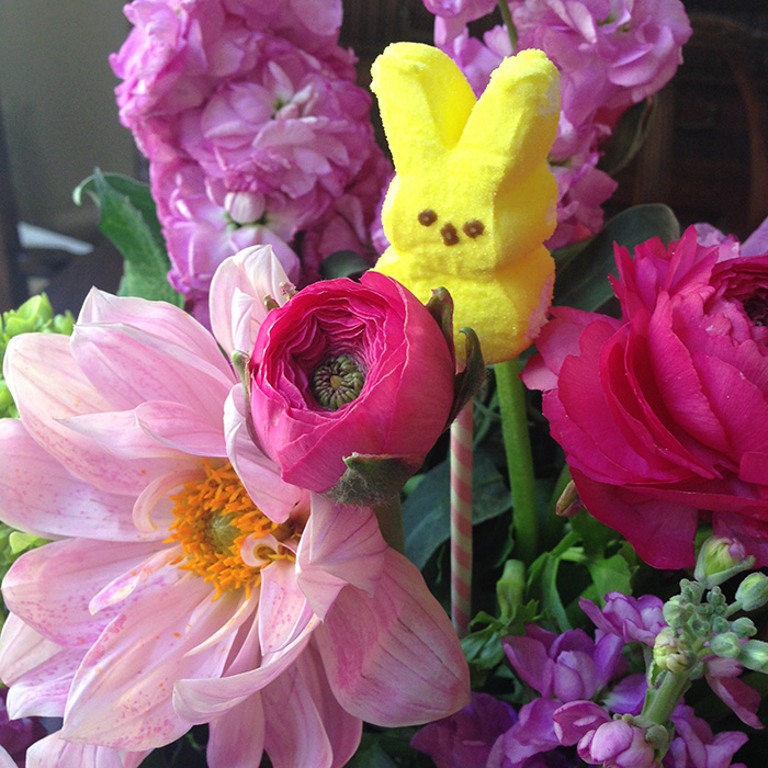peeps in flower arrangement700