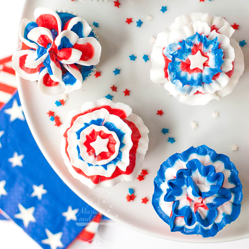 Wilton-Color-Right-Red-White-and-Blue-Cupcakes