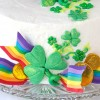 St. Patrick's Day Cake with DIY Fondant Rainbow Ribbons
