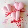 Meringue Cookie Heart Pops