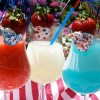 4th of July Cocktails - Red, White and Blue Daiquiris